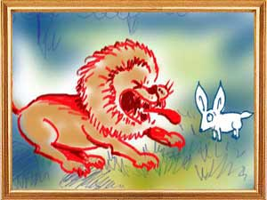 The Cunning Hare and The Witless Lion